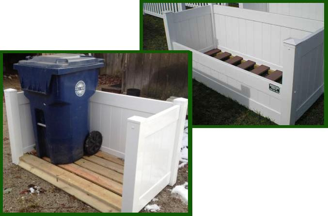 White PVC Trash Enclosures